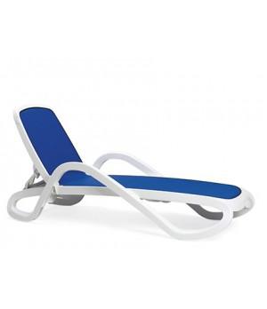 Alfa Chaise Lounge - Bianco / Blu
