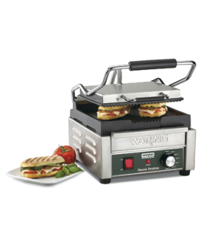 "Italian Perfetto,Compact Panini Grill, electric, single, 9-1/4"" x 9-3/4"" cook"