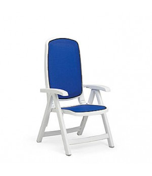 Delta Arm Chair - Bianco Blue
