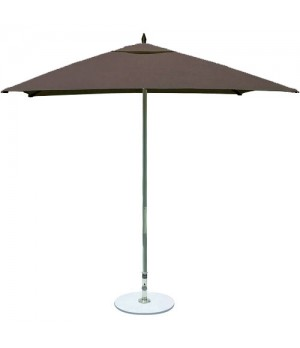 6.5ft Square Taupe Single Vent, Manual Lift, Two Piece Pole