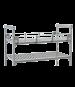Cambro CPR14483151 Camshelving® Premium Three-Quarter Shelf Rail Kit, 14