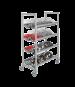 Cambro CPMU244875PDPKG Camshelving® Premium Mobile Angled Drying Rack Cart, 24