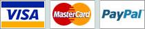 We accept Visa, Mastercard, and Paypal
